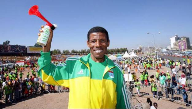 Haile Gebrselassie en de Great Ethiopian Run