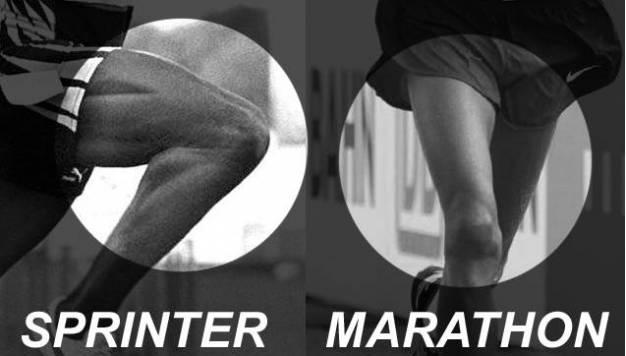 De maximale vermogens van sprinters en langeafstandlopers