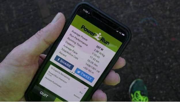 Hardloopvermogensmeters 11: nogmaals de Power2Run app