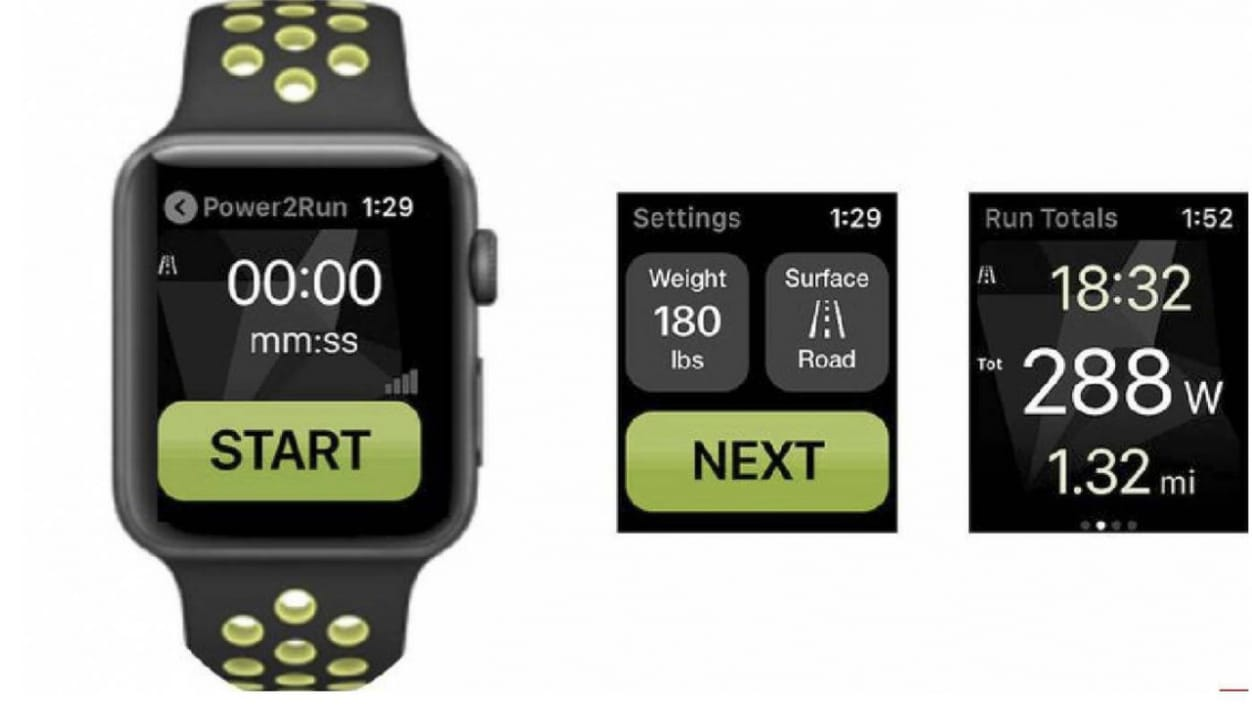 Power2Run, een hardloopvermogensmeter voor Apple watch