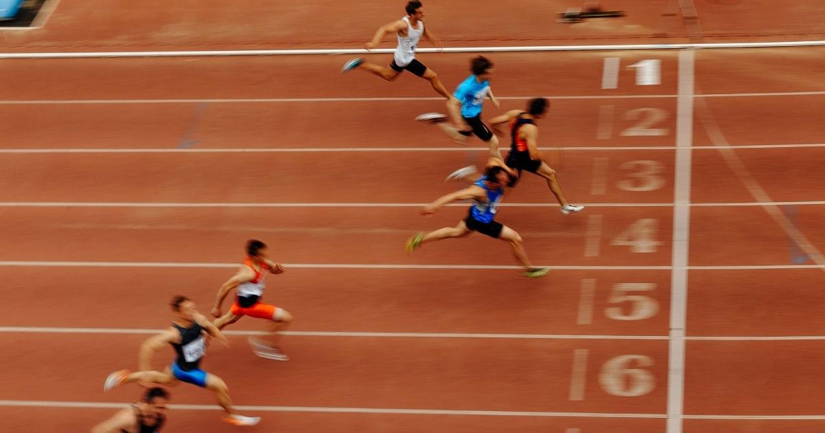 Justin Gatlin: 100 meter in 9,45 seconden