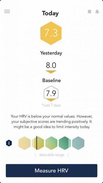 Voorbeeld HRV meting