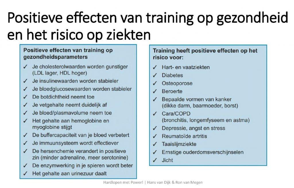 Positieve effeceten van training op gezondheid