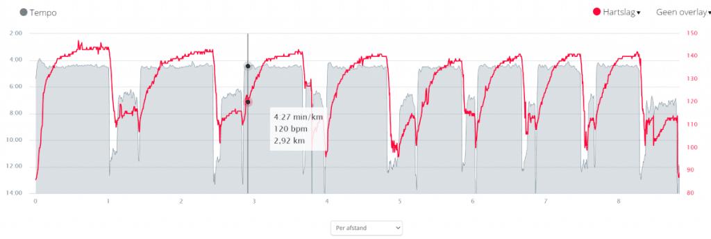 tempo hartslag intervaltraining