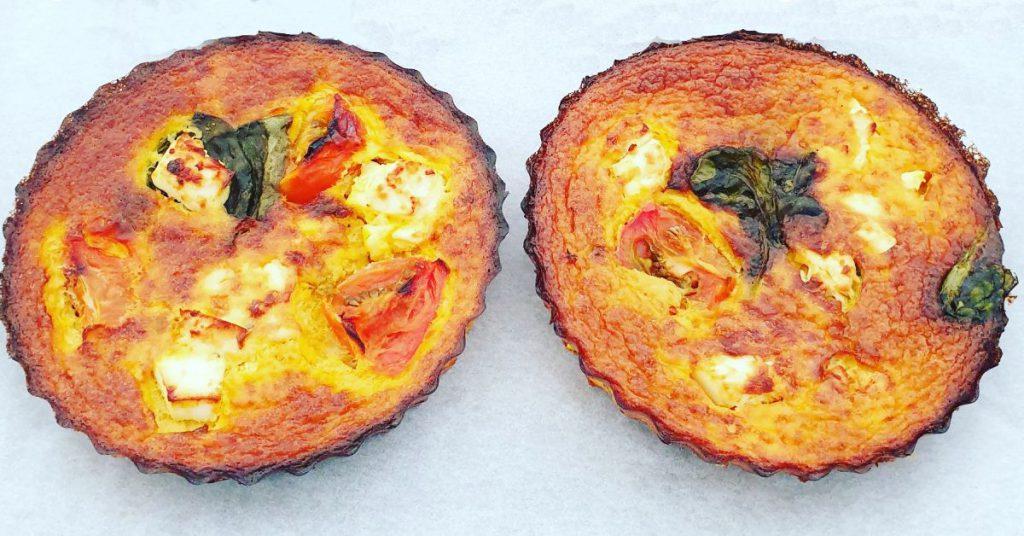 Karen's Kitchen: Pompoen mini-quiches met spinazie, feta en cherrytomaatjes