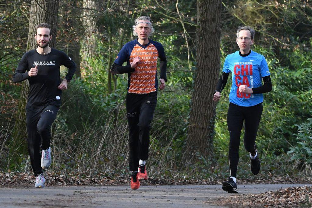 Koen van Dijk, Sjoerd Veenma en Co Post, de drijvende krachten achter het 033 Strava Circuit (foto Harry van 't Veld)