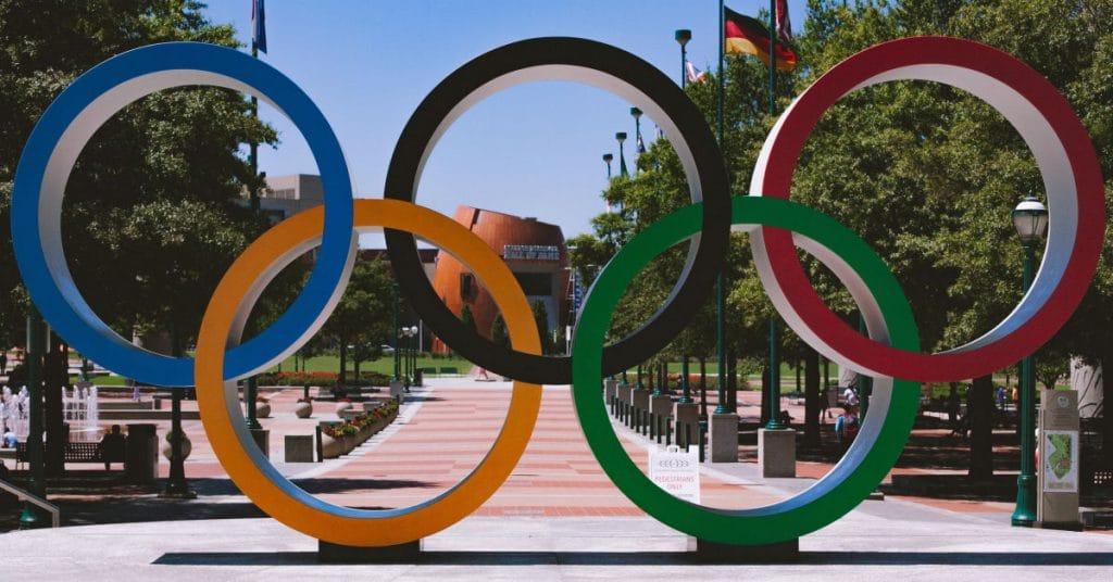 Hardlopen op de Olympische Spelen kijken vanuit buitenland