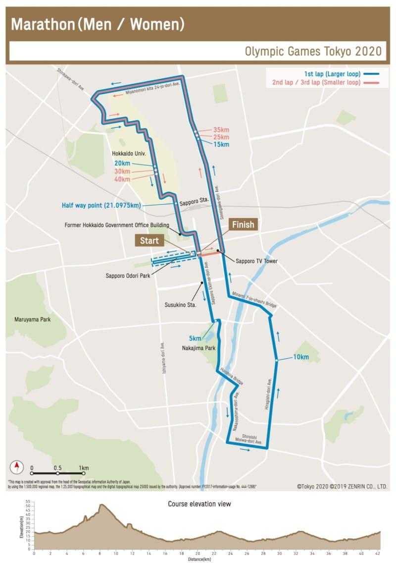 Marathon Sapporo Olympische Spelen Tokio