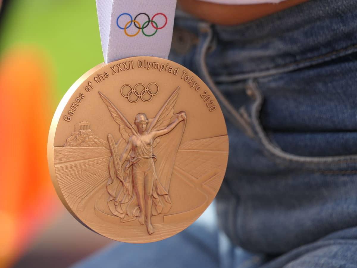 De bronzen medaille van Femke Bol (Olympische Spelen Tokio 2020)