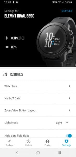 Wahoo ELEMNT RIVAL GPS horloge