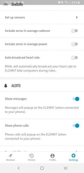 Wahoo RIVAL ELEMNT sensors en alert