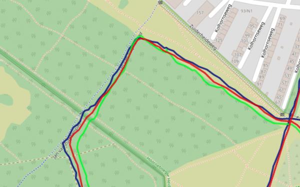 Wahoo RIVAL vs Polar Grit X vs Garmin - GPS in het bos