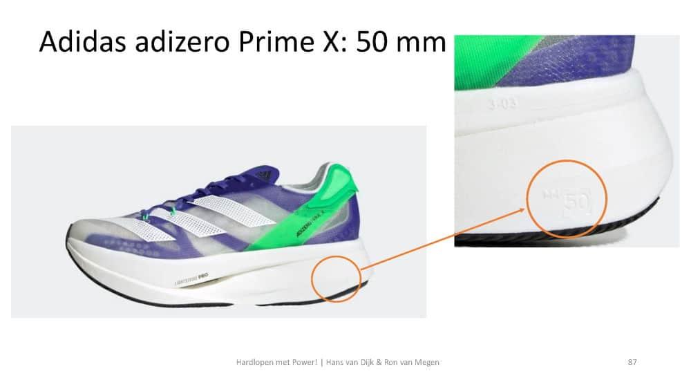 Adidas adizero Prime X: 50mm zool